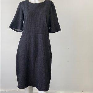 Dex the Suit Shop -large dark grey pinstripe dress